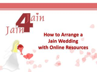 How to Arrange a Jain Wedding with Online Resources
