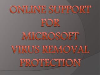 Online Support for Microsoft Virus Removal