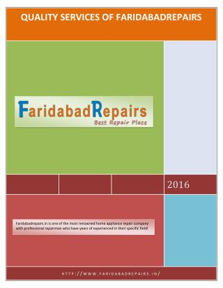 QUALITY SERVICES OF FARIDABADREPAIRS