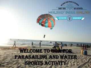 Book Parasailing And Water Sports Activity in Goa