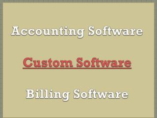 ccounting Software, Custom Software, Billing Software, Small Business, Online Accounting