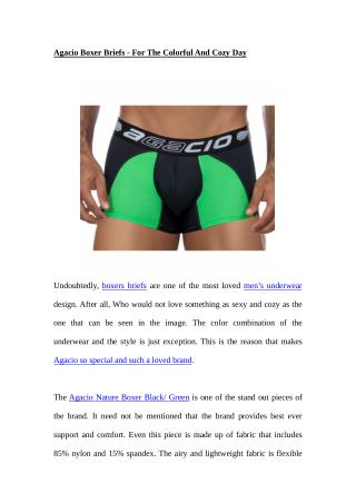 Agacio Boxer Briefs - For The Colorful And Cozy Day