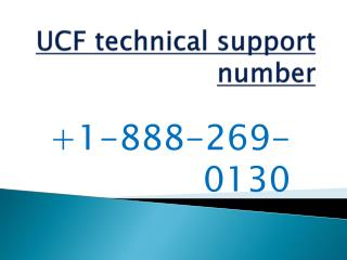 Ucf customer service number,Ucf helpline number-18882690130