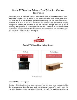 Rental TV Stand and Enhance Your Television Watching Experience