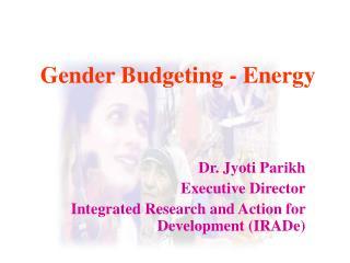 Gender Budgeting - Energy