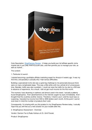 Shop Express Review