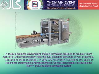 Osprey� Case Packers Designed For Agility | Jls Automation