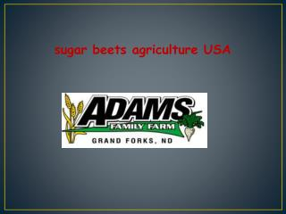 Adam Family Farm Agriculture