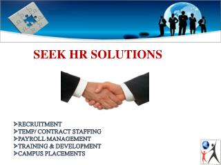 staffing solutions in delhi –seek hr solutions