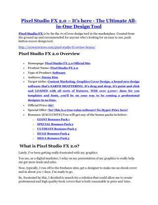 Pixel Studio FX 2.0 review - Pixel Studio FX 2.0 (MEGA) $23,800 bonuses