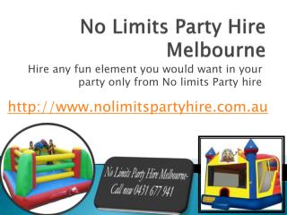 Party Equipment Hire Melbourne- No Limits Party Hire