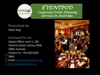 Corporate Event Planning Services in Australia