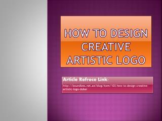 How to Design Creative Artistic Logo Duabi