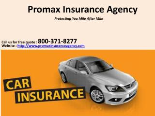 Auto insurance quotes in California