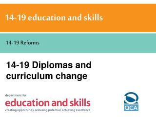 14-19 Diplomas and curriculum change