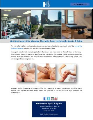 Get Best Jersey City Massage Therapist From Harborside Sports & Spine