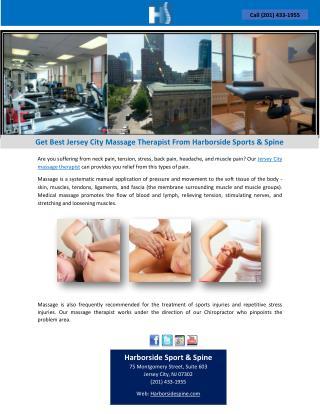 Get Best Jersey City Massage Therapist From Harborside Sports & Spine