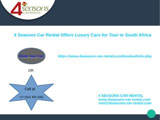 Welcome to 4 Searsons Car Rental