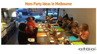 Hens Party Ideas In Melbourne