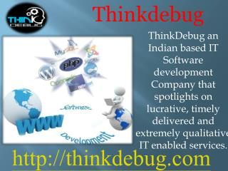 ThinkDebug is web designing and web Development Company in india