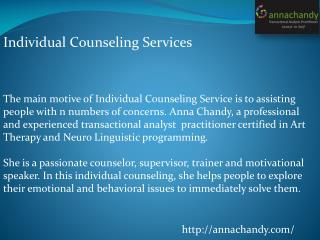 Individual Counseling Service
