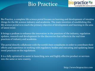 Bio Practice