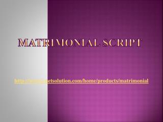 Matrimonial Script - i-Netsolution