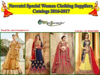 Navratri Special Women Clothing Suppliers Catalogs 2016-2017