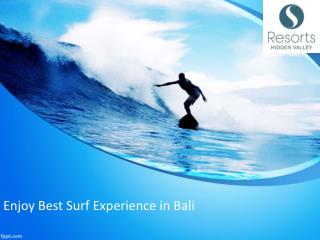 Enjoy Best surf Experience in Bali