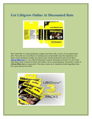 Get Libigrow Online At Discounted Rate