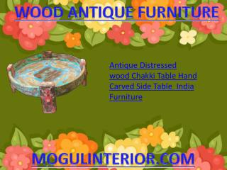 Wood antique furniture by MOGULINTERIOR