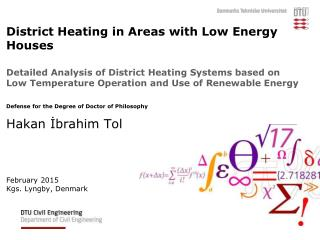 Low Temperature District Heating & Renewable Energy