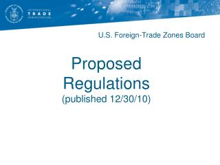 Proposed Regulations published 12