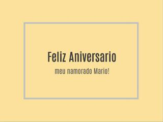 Feliz Aniversario meu Amor