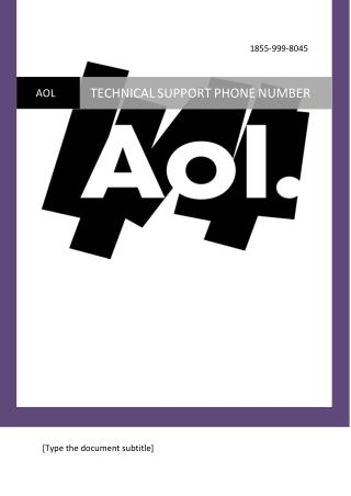Get Fix  1(855)-999-8045 AOL MAIL Technical Support/Services Phone Number