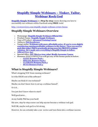 Stupidly Simple Webinars Review & (Secret) $22,300 bonus