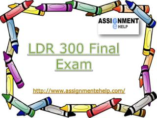 LDR 300 - LDR 300 Final Exam - LDR 300 Innovative Leadership | Assignment E Help