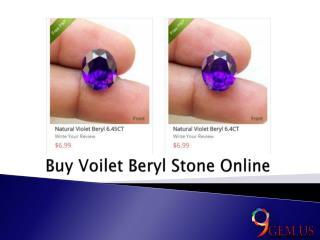 Buy Violet Beryl Stone Online