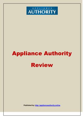 Appliance Authority-Appliance Authority Review