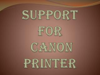 Online Technical Support For Canon Printer