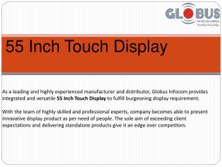 55 Inch Touch Display