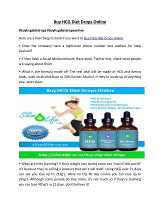 HCG Diet Drops – Slim4Life NZ