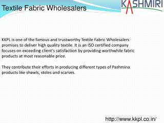 Textile Fabric Wholesalers