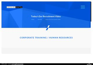 """Today's DAR"""" Recruitment Video 