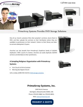 PrimeArray Systems Provides DVD Storage Solutions