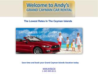 Choosing a car rental for your Grand Cayman vacation