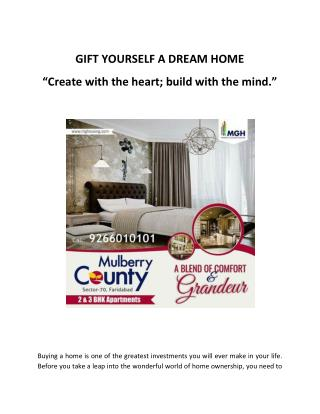 GIFT YOURSELF A DREAM HOME