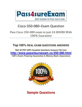 Pass4sure Cisco 350-080 Study Guide