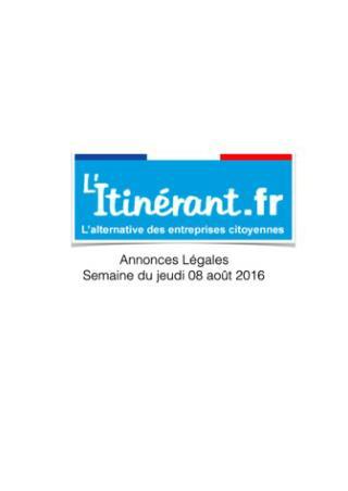 Annonces légales : L'Itinérant 1137