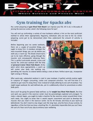 Personal trainer west palm beach